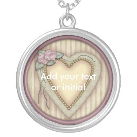 Initial Pendant Necklace #jewelry #valentinesday