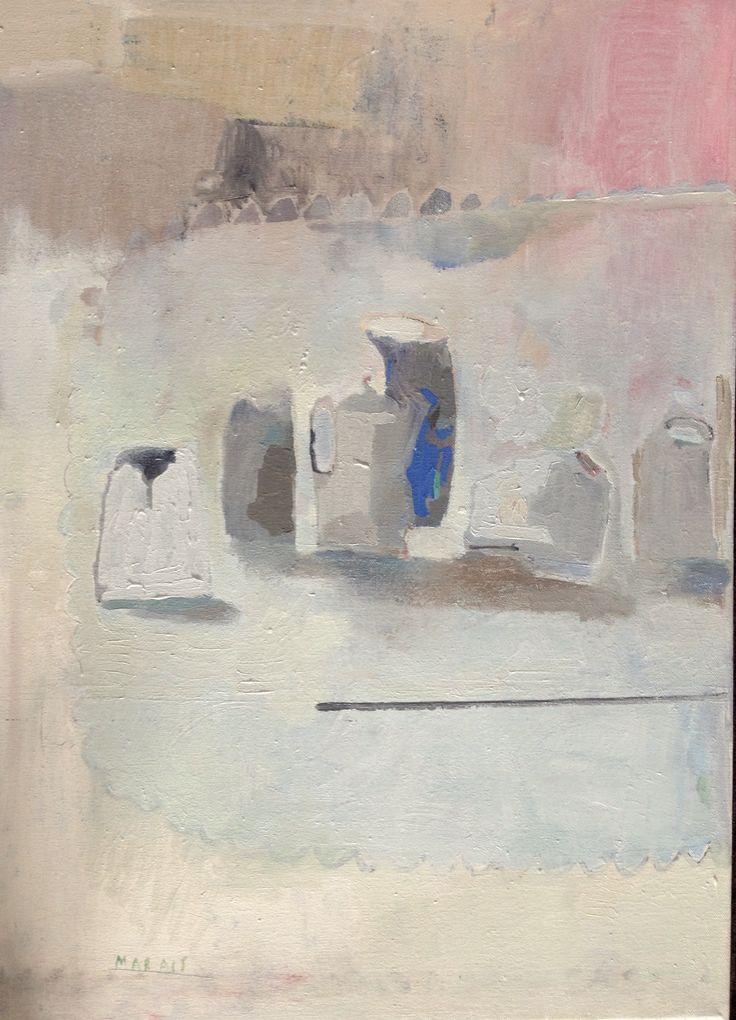 Homage oil on canvas Odette Marais
