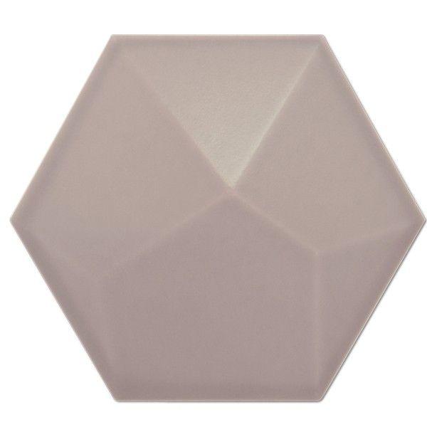 Heksagon Piramidal - płytki ścienne Heksagon Piramidal Nude Mate 17x15
