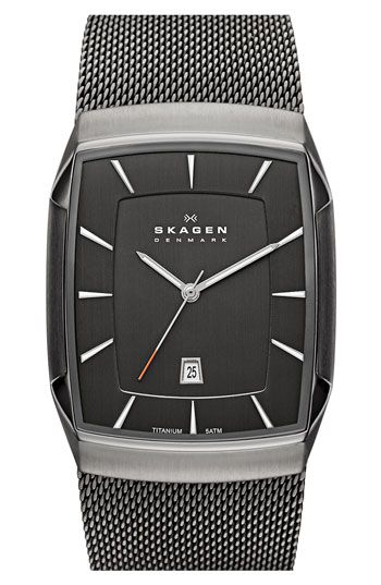 Skagen 'Titanium' Rectangular Watch | Nordstrom