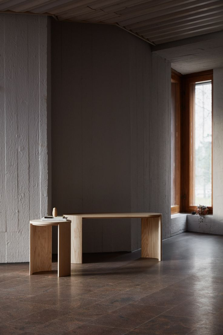 Helsinki-based designer Joanna Laajisto drew upon traditional Scandinavian holiday cabins when designing this collection of wooden furniture for Finnish brand Made by Choice.