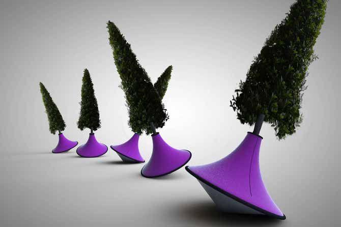 La forêt ivre, Mai 2013. Le travail du designer Alexis Tricoire se situe entre art et design d'objet, et développe une grande sensibilité environnementale. À partir de ses installations artistiques et de ses sculptures, il extrait les éléments qui lui semblent être propices au développement sériel.