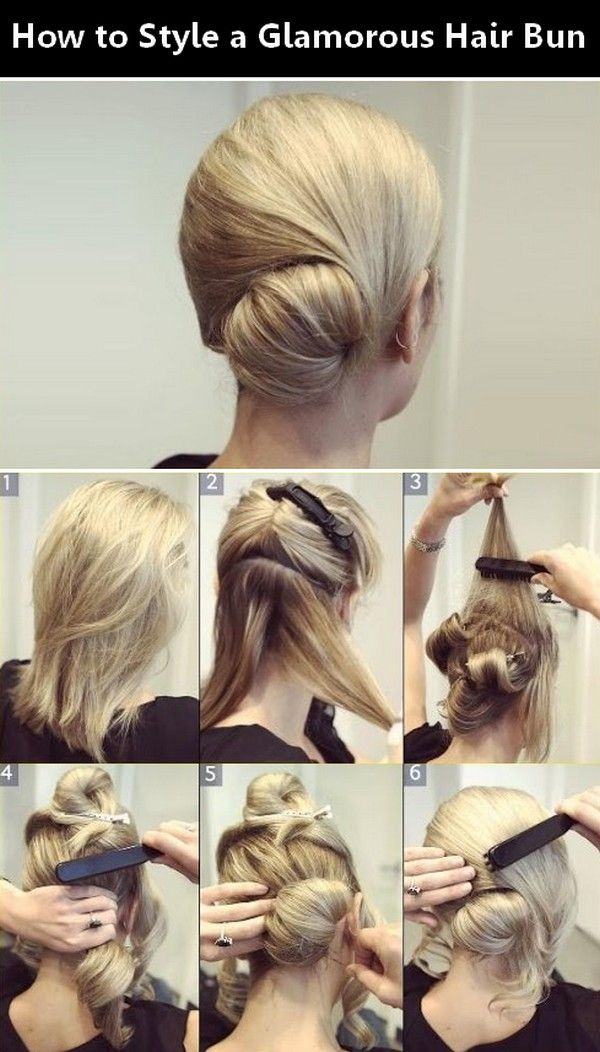 How to Style a Glamorous Hair Bun.