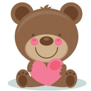Cute Valentine Bear SVG