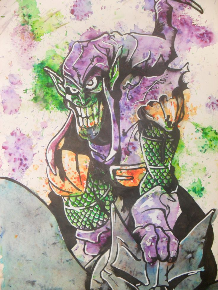 Green Goblin done with brusho