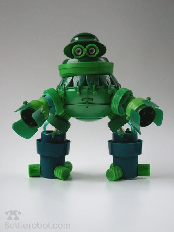 Un des robots de la bande des Bottlerrobot