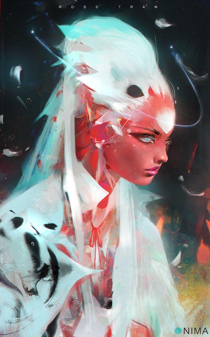 ARTIST SPOTLIGHT: Rossdraws. Nima in White > great energy in this #scifi #digitalart