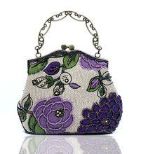 Старинные вышивки запястье мешок женщин бисером вечерние сумки ручной работы ремесло бисером вышивка ретро белье сумки 6 цвет NO22005-1(China (Mainland))