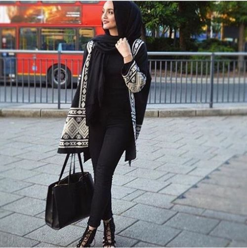 How to wear poncho with hijab – Just Trendy Girls