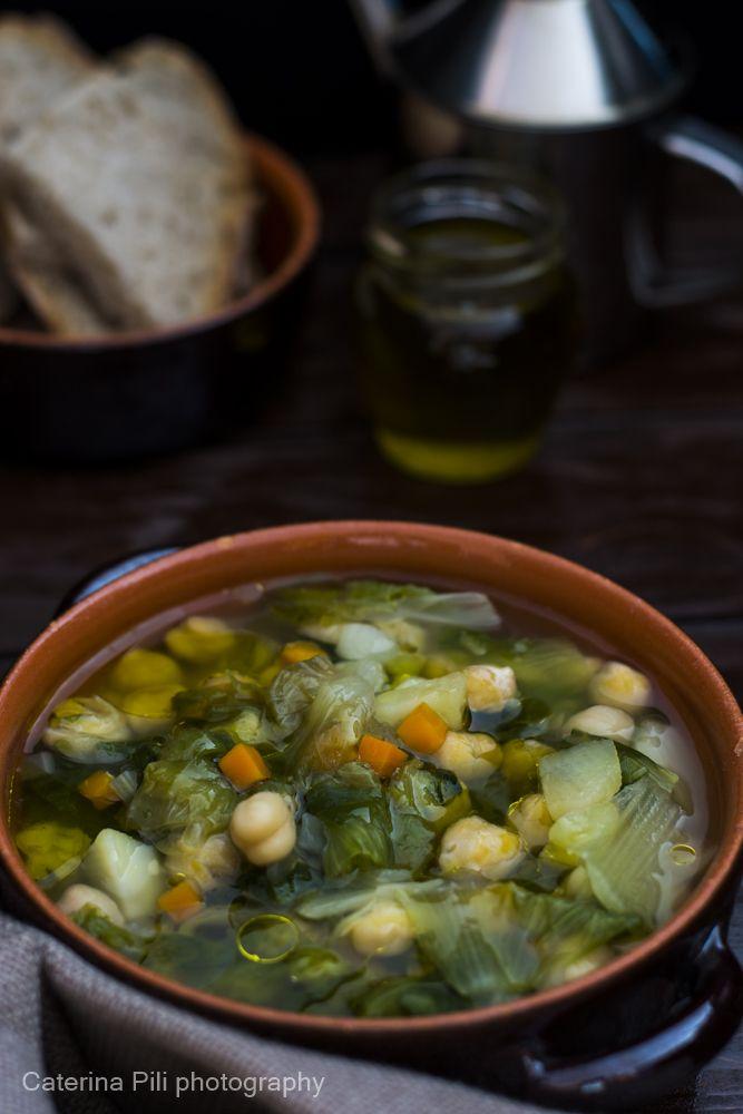 Zuppa di ceci con scarola