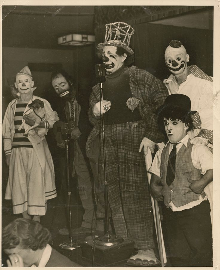Charlie Bell, Emmett Kelly, and Felex Adler