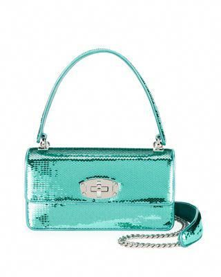 d4c2a1fcba0 Miu Miu Cleo Sequined Top-Handle Shoulder Bag