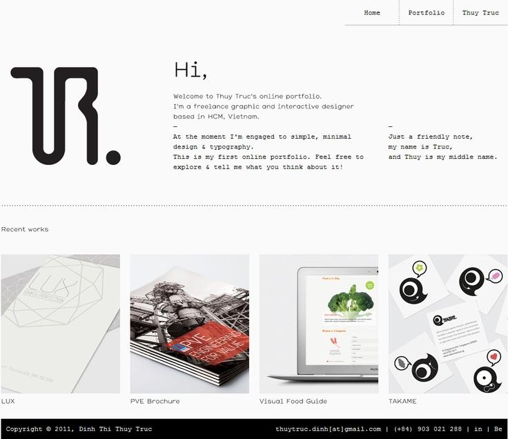 http://thuytruc.me/: Design Inspiration, Thuy Truc, Portfolio Website, Web Design, Http Thuytruc M, Website Design, Website Inspiration, Website Ideas, Web Design Designinspir