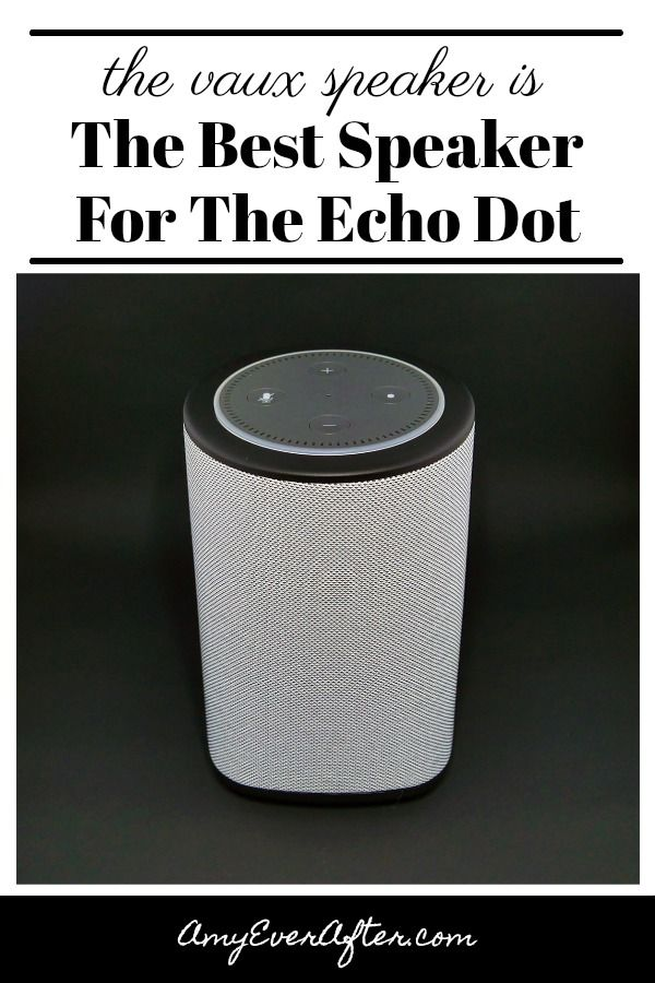 Looking for Echo Dot Accessories? The VAUX Cordless Speaker is a dock for your Echo Dot that gives you a bigger, louder speaker plus the flexibility to unplug your Dot and move it around!