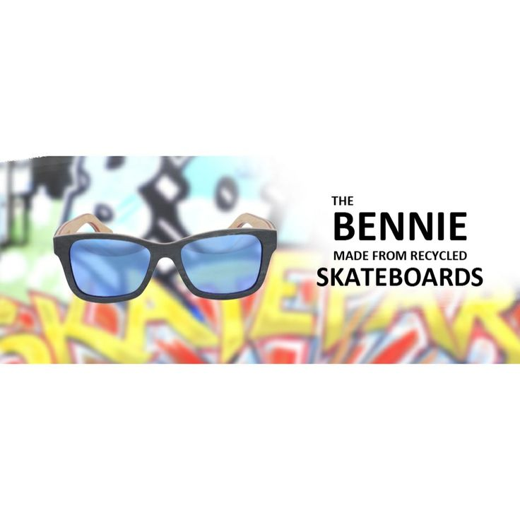 The 'Bennie' | Skate Shades | Made from recycled skateboards  www.topheads.com.au #topheads #bondi #bondiskatepark #recycled #skateboards #wood