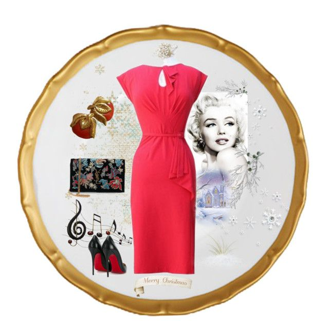 """""""Stop staring dress ❤️"""" by christina-63 on Polyvore featuring Yves Saint Laurent, Benzara and Christian Louboutin"""