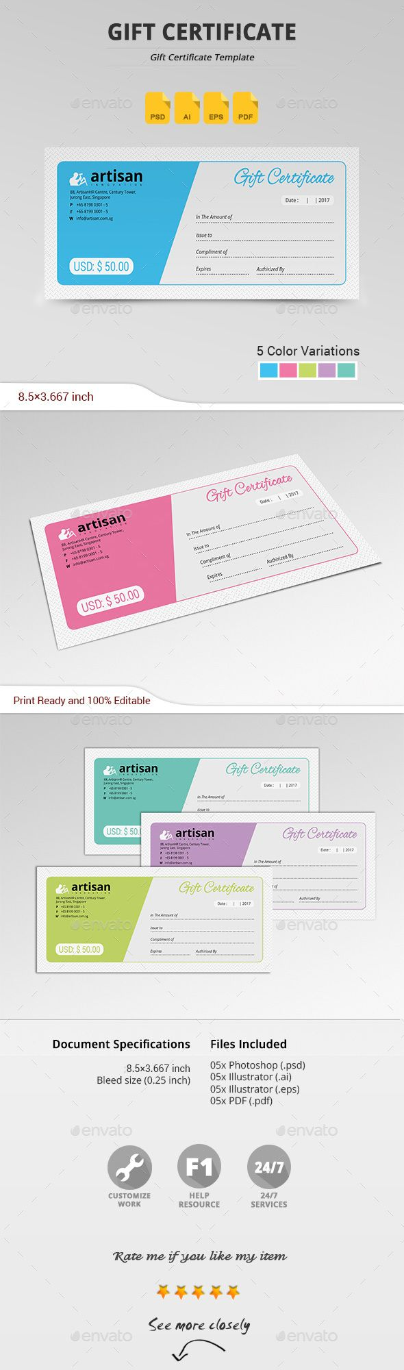 Gift Certificate   Certificates Stationery