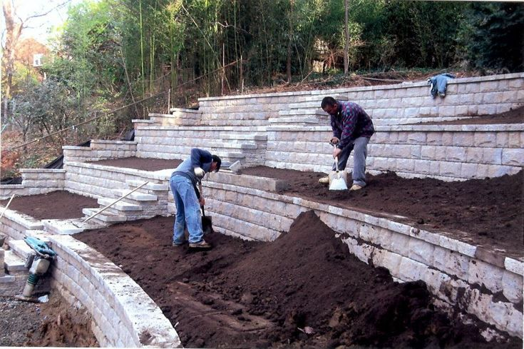 Terrific Images Retaining Walls On Hill Thoughts For Those Who Have The Garden Inside Knoxvi Backyard Hill Landscaping Backyard Retaining Walls Sloped Backyard