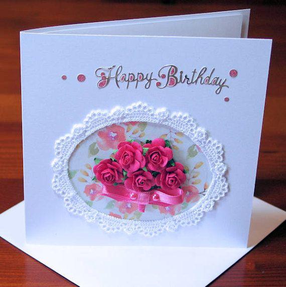 Happy Birthday 300gsm Pearlescent Handmade by CardsbyCoralJean