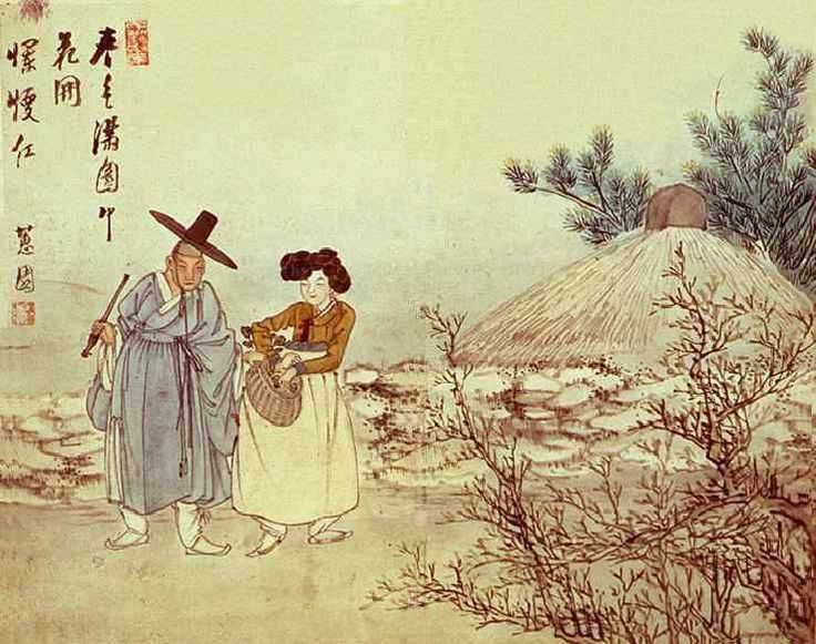 (Korea) by Shin Yun-bok. aka Hyewon. ca 18th century CE. Joseon Kingdom, Korea. 혜원 신윤복