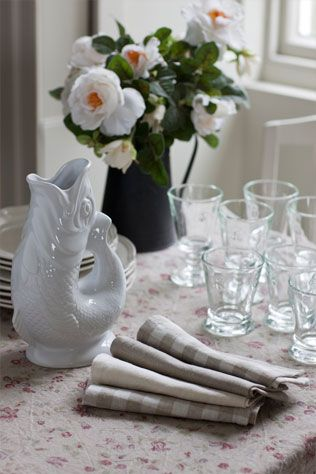Our beautiful Washed Linen tablecloth and napkins.