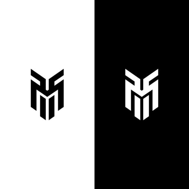Letter M Line Logo Design Desain Logo Logo Keren Gambar