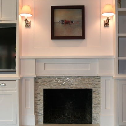 1000 Images About Tile Around Fireplace On Pinterest