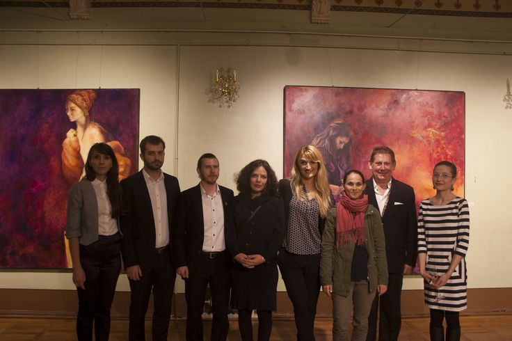 The opening of Colours of Life exhibition at Cantacuzino Castel, Bușteni — with Andreea Floreanu, Radu Rodideal, Alexandru Cazanaru, Oana Ionel, Bianca Ioniță, Thomas Emmerling and Alexandra Tataru at Castelul Cantacuzino.