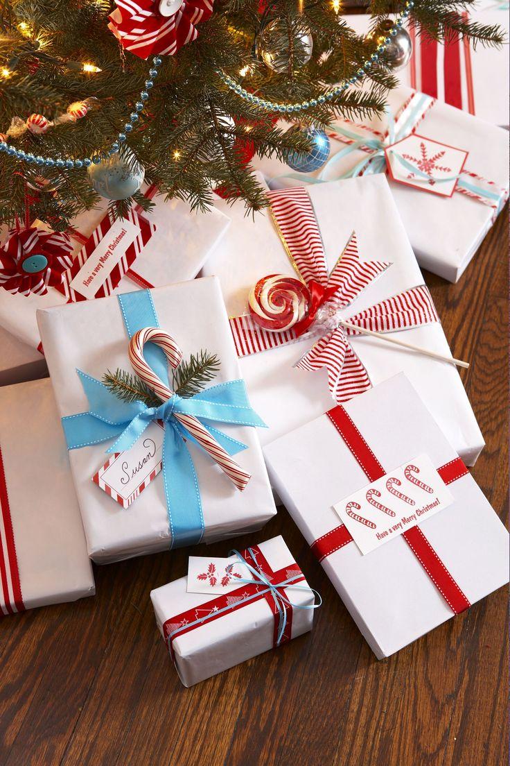 Как оформить подарок на новый год фото