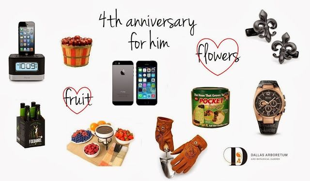 4th Wedding Anniversary Gifts For Husband