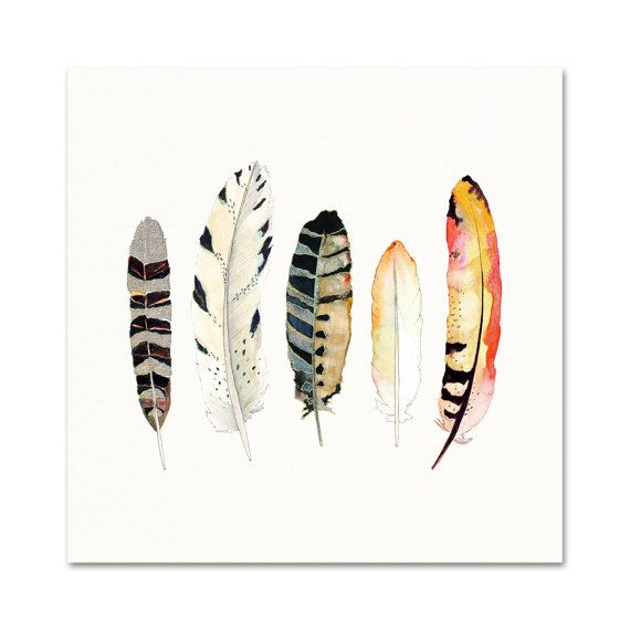 Aquarell Kunst.  Feder-Print.  Afrikanische und von SnoogsAndWilde