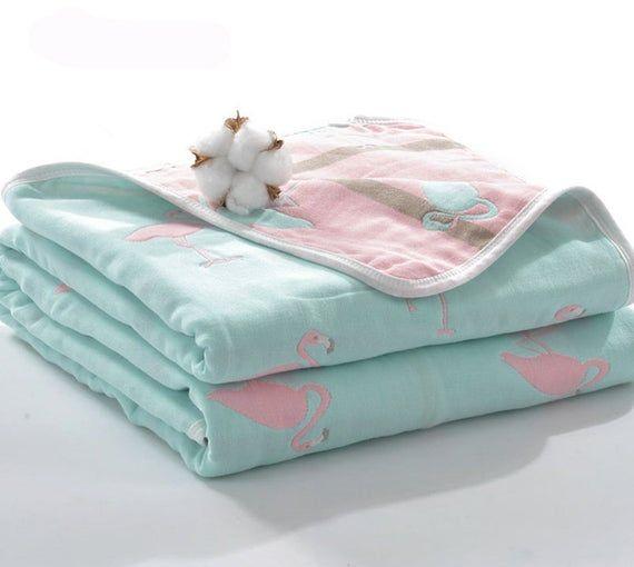 Baby Muslin Blanket Swaddle Bedding Cotton Soft Blankets for Newborn shan