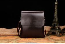 Men Leather SMALL Handbags Briefcase Laptop Shoulder Messenger Tote Bags wallets