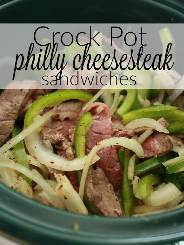 Easy dinner on the docket for you this week? Try this philly cheese steak crock pot recipe - sandwiches are simple, and since this recipe does the cooking for you, dinner will be done when you arrive home or get done with your errands. Perfect! http://couponcravings.com/dinner