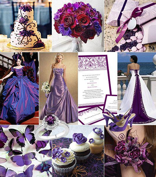 Lila färgtema på bröllop
