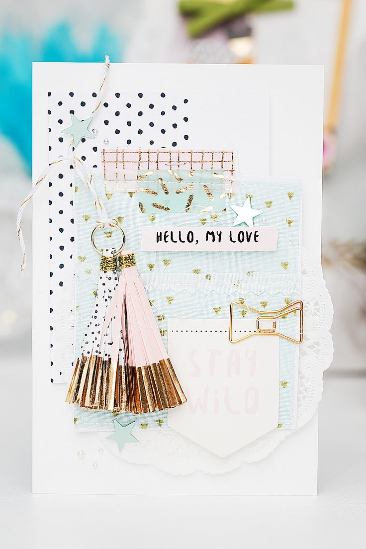 mojosanti : Gift Wrapping with Scrapbook Supplies I Gossamer Blue September…