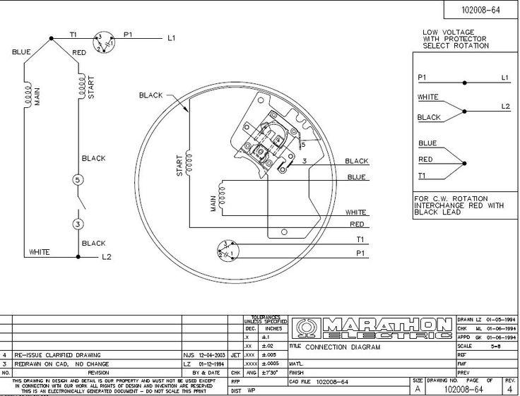 Marvelous Marathon Wiring Schematics Contemporary Best Image. Phase 240v Motor ...