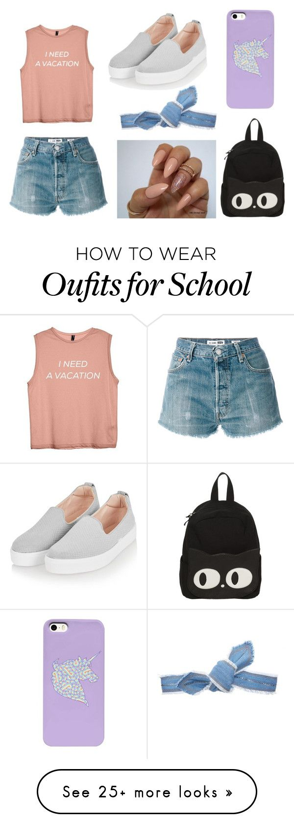 """"" by mariel-manriquez on Polyvore featuring RE/DONE, Colette Malouf and Topshop"