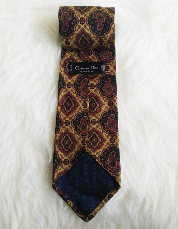 Christian Dior vintage silk tie