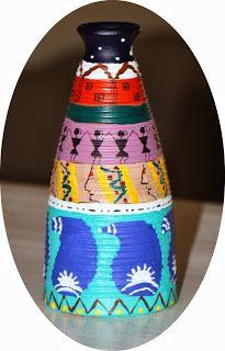 Terracotta vase painting