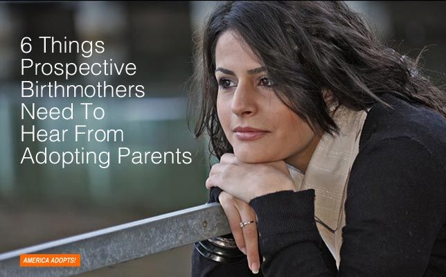 Prospective birthmothers are people too. And just like any person dealing with a crisis, getting support and encouragement from others is important. Here are six simple phrases that prospective adoptive parents can say to help her cope and get their relationship off the ground.