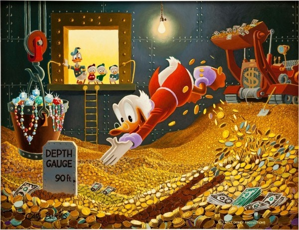 Swimming In Money by Carl Barks painting goes for $262,900 and I want it!