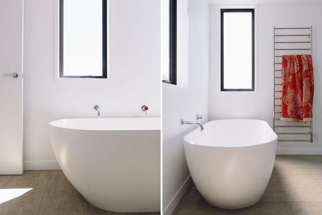 An upstairs bathroom has a bath by VCBC.