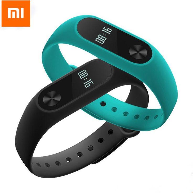 Asli xiaomi mi band 2 sleep tracker wristband opsional tali warna-warni ip67 tahan air pintar mi band untuk android ios telepon