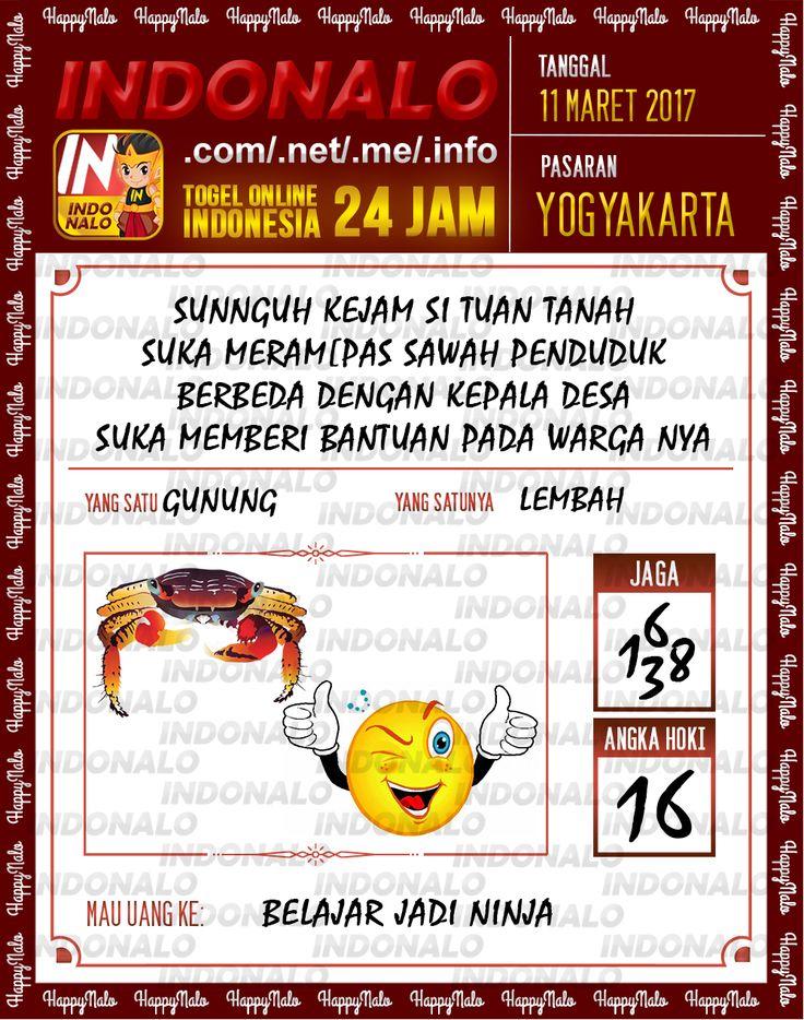 Kode Alam 3D Togel Wap Online Indonalo Yogyakarta 11 Maret 2017