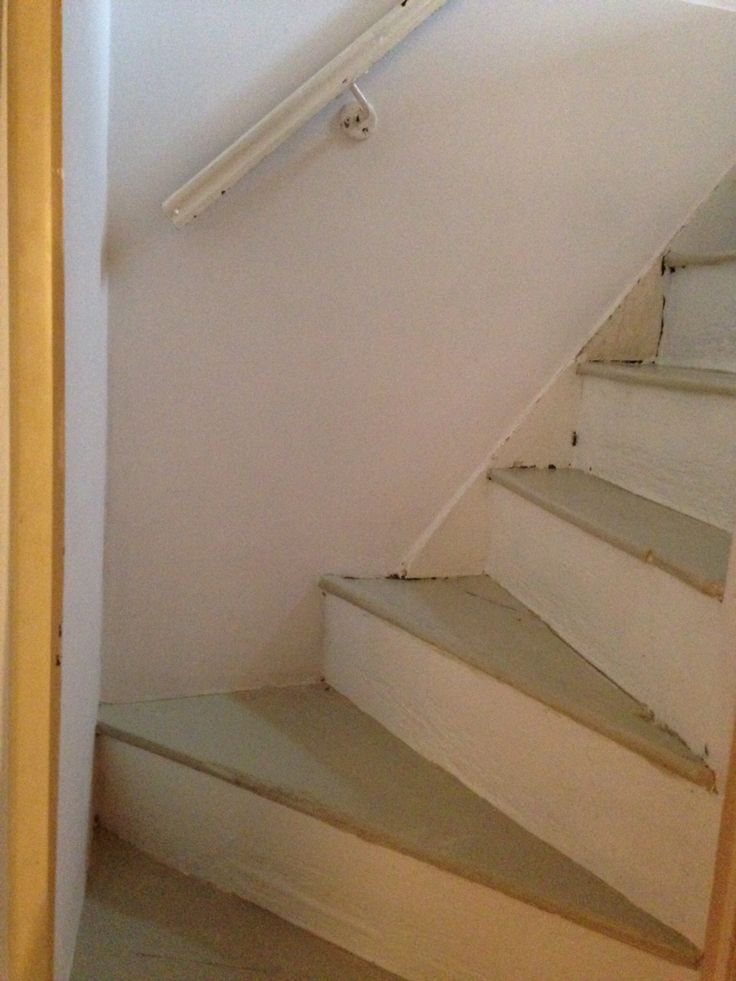 Stairs to loft room, first coat of paint