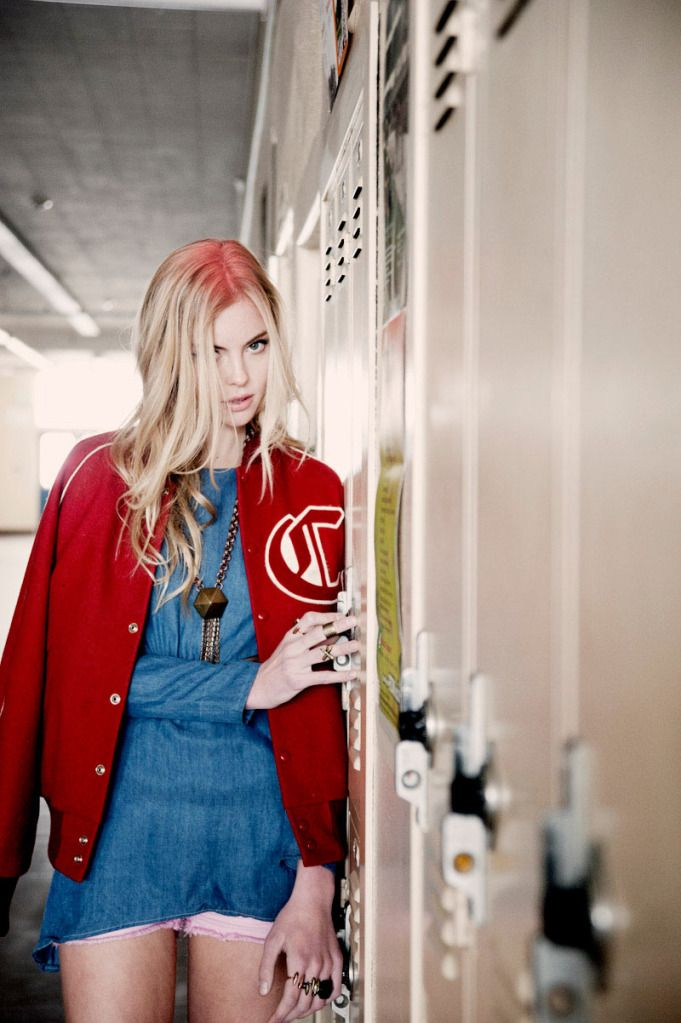 tunic jeans, college jacket