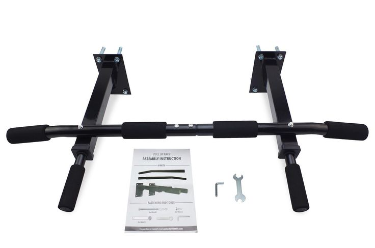 Pull Up Rack Home Gym System - Wall Mount Chin Up Bar With Padded Multi Grips
