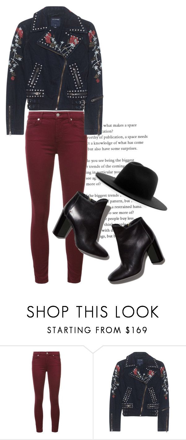 """Rocker Chick"" by alexfreyberg on Polyvore featuring 7 For All Mankind, True Religion, Pierre Hardy, Études, rocker, roses, rockerchic and rockerstyle"