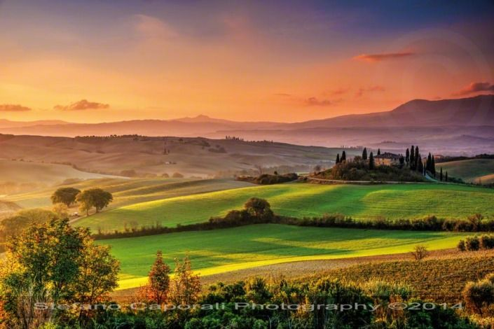 Tuscan Sunrise in Val d'Orcia